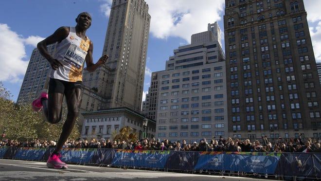 Kenya's Geoffrey Kamworor won his second New York City Marathon in three years in 2019.