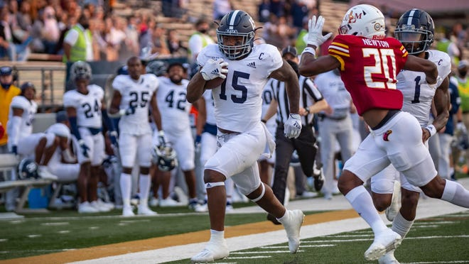 Georgia Southern senior running back J.D. King rushed for 196 yards in a 35-30 victory over host Louisiana-Monroe on Oct. 3.