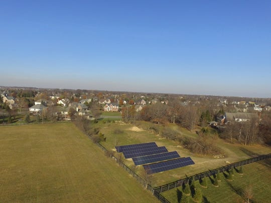 Several Carmel residents believe the city should not have approved a large solar array in a residential area. David Luedtke is building the solar array to power his house.