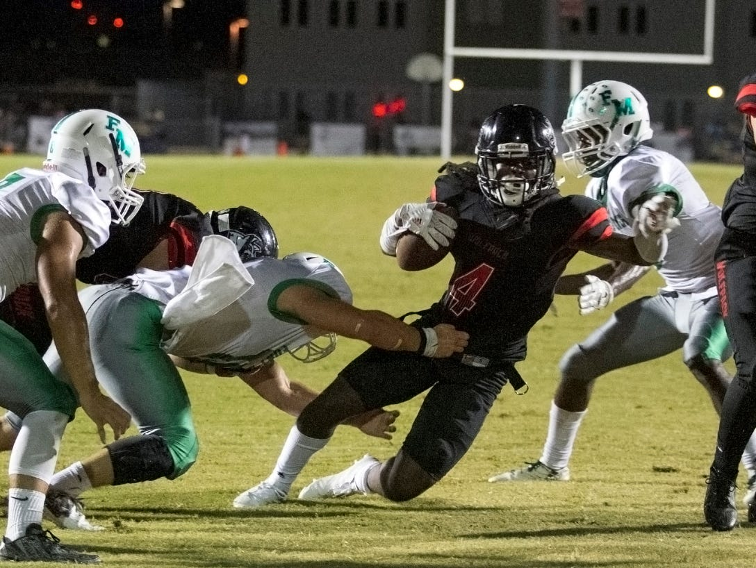 Senior running back Riley Ware will lead South Myers, the only undefeated team in Lee County, into a road match with Dunbar on Friday.