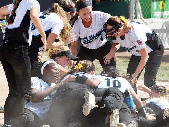Delaware District 3 Senior League Softball team from Georgetown defeated Asia-Pacific from the Philippines, 4-0 in the World Series Senior League Softball Championship held at Lower Sussex Little League Fields near Roxana on Sunday August 6th. Special to the News Journal / Chuck Snyder