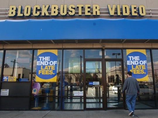 Blockbuster video store in Newark in 2005.