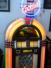 Among the more colorful items at the store is this jukebox.