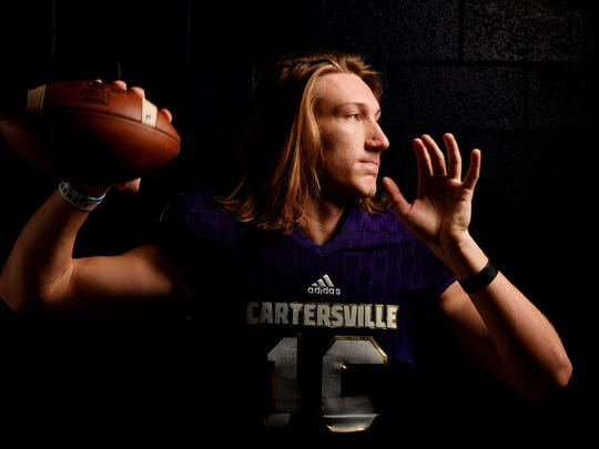 12/12/17 12:38:02 PM -- Cartersville, GA, U.S.A  -- Trevor Lawrence of Cartersville High School is one of our All USA TODAY football player of the year candidates. --   Mandatory Credit: John David Mercer-USA TODAY Sports