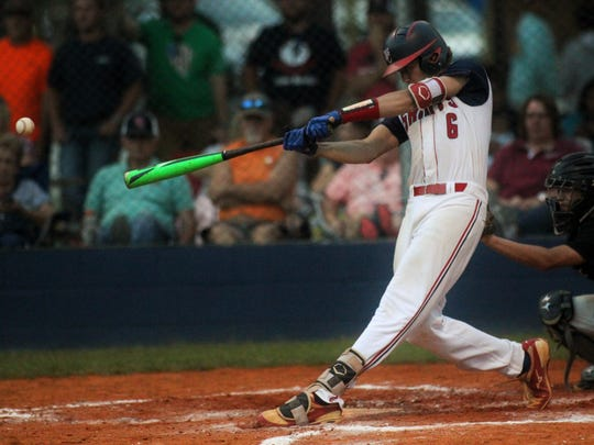 Wakulla Christian's Seth Dudley laces a hit against