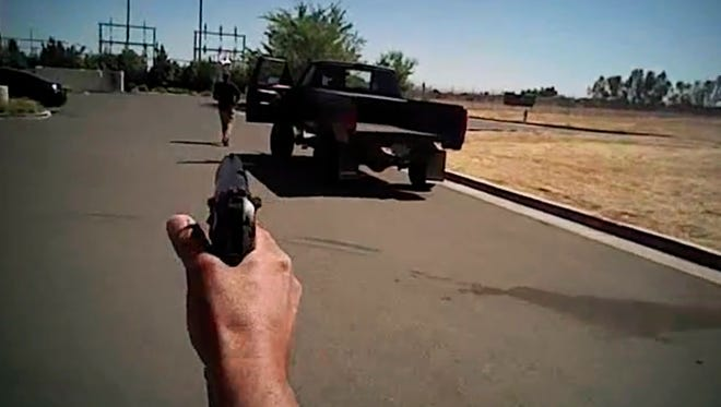 Fresno police released body-camera video of officers fatally shooting Dylan Noble, a 19-year-old man in Central, Calif.