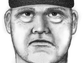 A police sketch of the man suspected of killing Steven