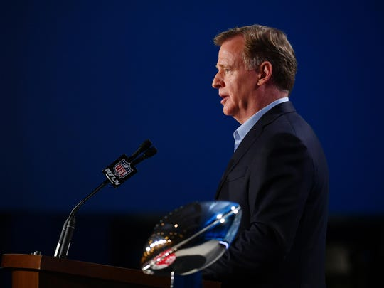 During his annual address at the Super Bowl, NFL commissioner Roger Goodell again said the Bills need a new stadium.