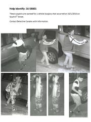 Vehicle burglary suspect.