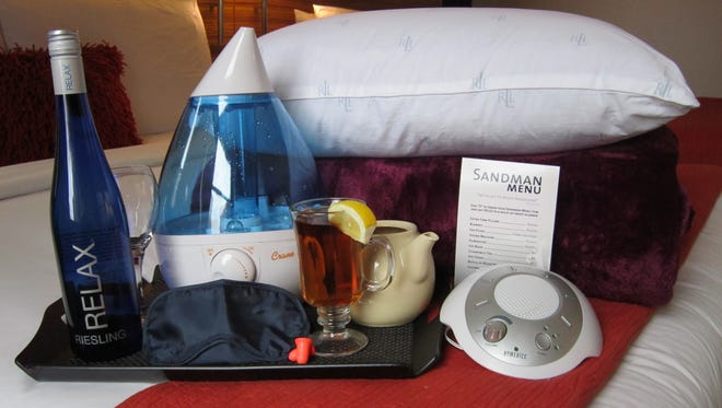 The Hard Rock Hotel Chicago has a Sandman Menu with a number of sleep amenities such as a sound machine and decaffeinated tea.