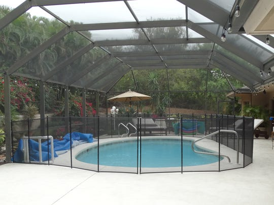A kiddie perimeter fence can be easily installed as a secondary barrier to provide more safety for children at the pool.