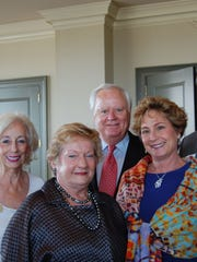 From left, Dora James, chairwoman of the Alabama State Council on the Arts, celebrated 50 years of the agency's support of the arts, with Sandra and Joe McInnes, and Lisa and Andy Weil.