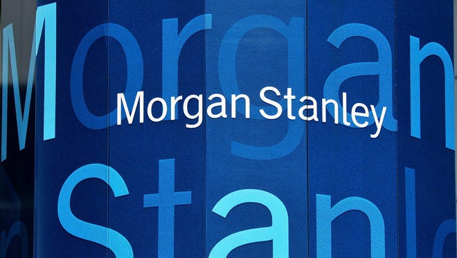 Morgan Stanley's first quarter profits were down amid global uncertainties,but it still beats analyst expectations.