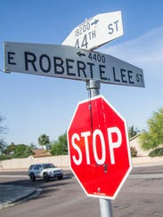 The corner of 44th and Robert E. Lee streets in Phoenix