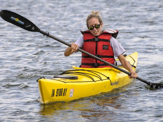 Julie Wagner participated with team Athletico in Altoona in the kayak competition at PetockaThon.