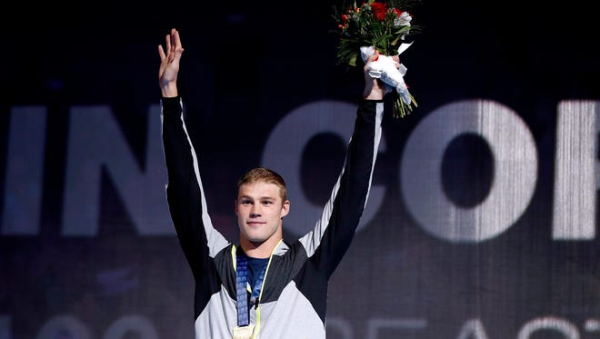 Former University of Arizona swimmer Kevin Cordes continued his strong run at the U.S. Olympic Swim Trials, leading in 200 breaststroke preliminaries Wednesday.