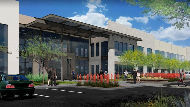 Financial consulting firm Deloitte will locate an 100,000-square-foot delivery center in Rivulon Commons at Gilbert Road and Loop 202.