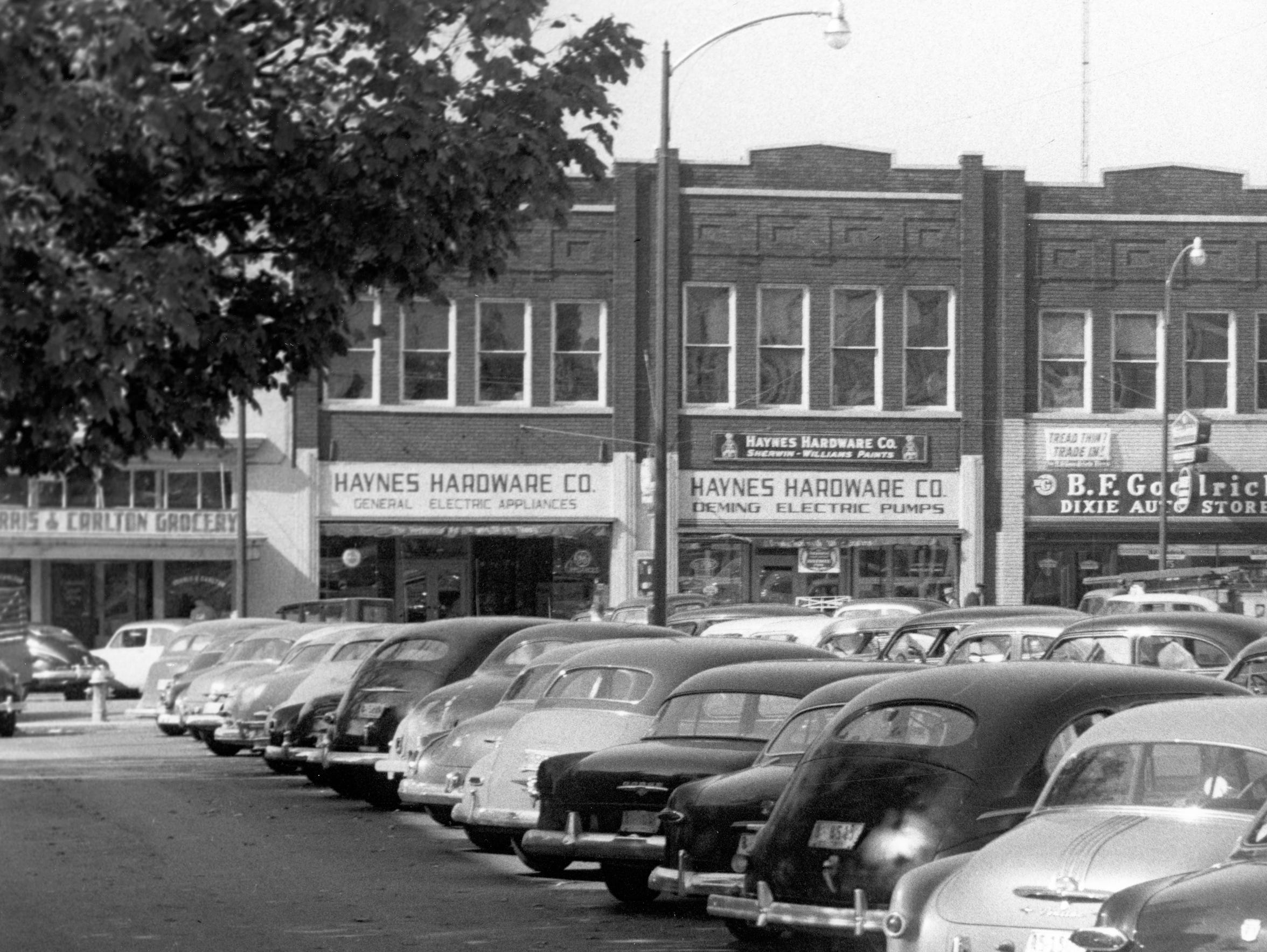 A view of Haynes Hardware's original location on the