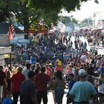 Crowds line up to watch Hilby perform at the Dutchess County Fair in Rhinebeck on Wednesday.