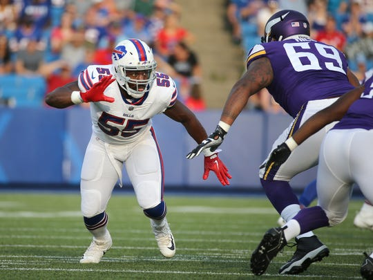 Bills Jerry Hughes has been one of the best players on the Bills defense this season.