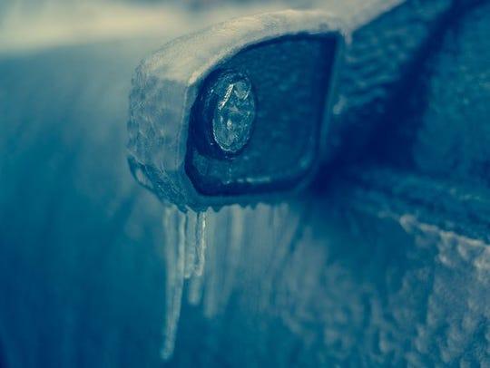 Ice on car.