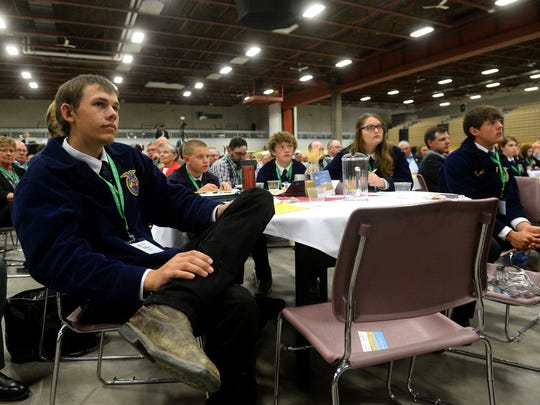 FFA members listen to the speakers at the Montana Ag