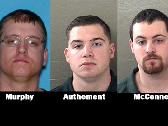 Danny Murphy, Charles McConnell III and Jonah Authement.