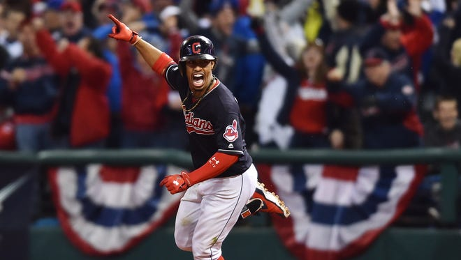 Francisco Lindor hits a two-run homer in the sixth inning.