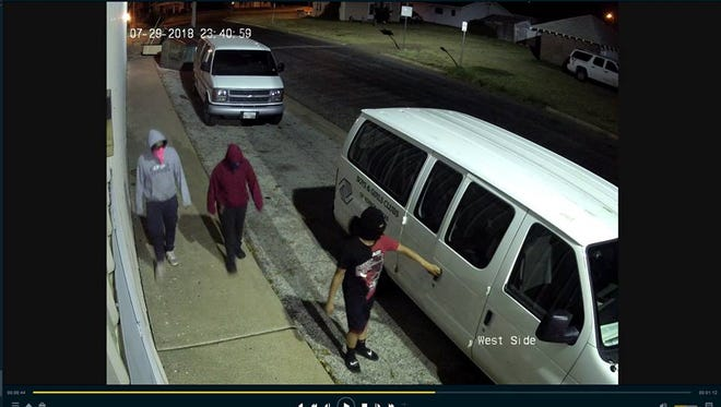 Vernon-Wilbarger County Crime Stoppers is seeking information on three people believed to have been involved in a set of burglaries on July 30.