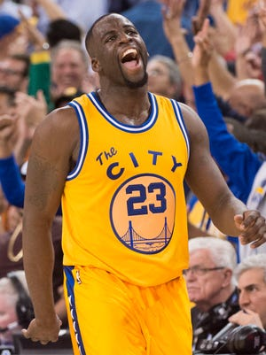 Golden State Warriors forward Draymond Green is averaging 13.8 points and 9.7 rebounds per game.
