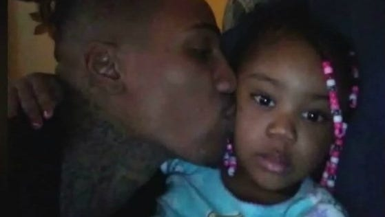 Indianapolis resident Anthony Burgess Jr. and his 3-year-old daughter Amina Garrett.