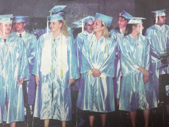 UCHS graduated it's 37th class in June of 2001. Shown here from the left are Crystal Bailey, Matt Buckman, Lesley Ashby, David Buchanan, Kyle Arnett, Devon Bradshaw, April Adams, Blake Bondurant, and Brad Adelman.