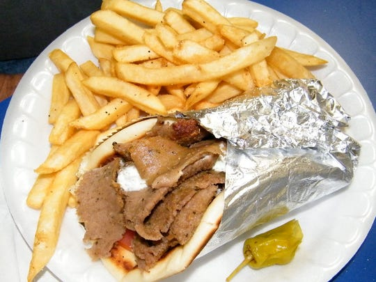 The Original Gyros with fries from George's Famous Gyros in Scottsdale.