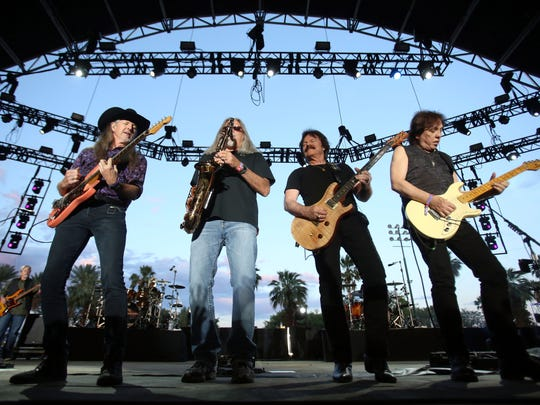 Saturday: The Doobie Brothers (seen in a 2016 photo at Stagecoach), performing at Fantasy Springs