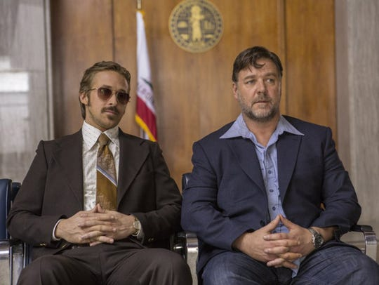 "Russel Crowe and Ryan Gosling in ""The Nice Guys."""