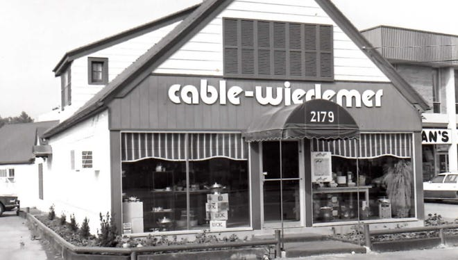 Cooks' World was originally named Cable-Wiedemer Gourmet Gallery, as seen in this circa late 1970s photo.