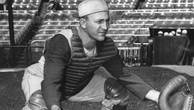 The Reds' Ed Bailey in April of 1958.