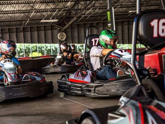 La pista de carreras en Octane Raceway.