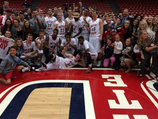 Dixie State won its fifth PacWest title in a 76-60