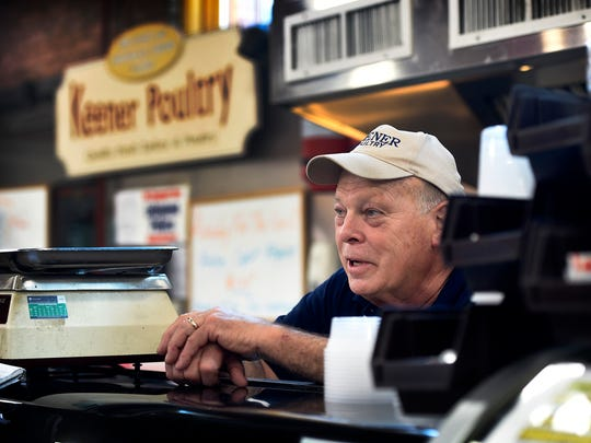 Ken Keener of Keener Poultry, has high hopes for the future of the Lebanon Farmers Market, which recently changed hands. Local landlord Tom Morrissey has met with many of the tenants to discuss future goals of the market as well as increasing foot traffic to the Lebanon destination.