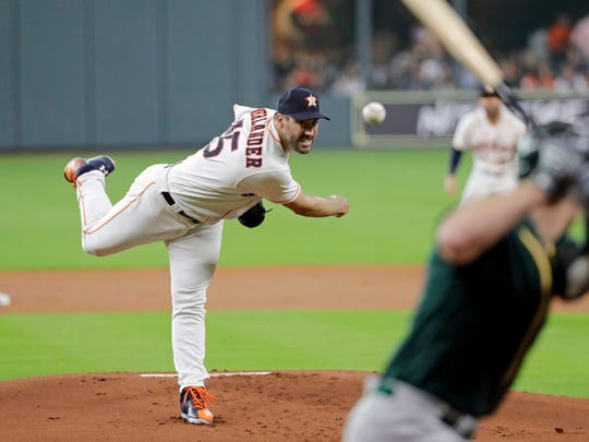 Justin Verlander has a 2.05 ERA and 0.828 WHIP, both tops in the majors.