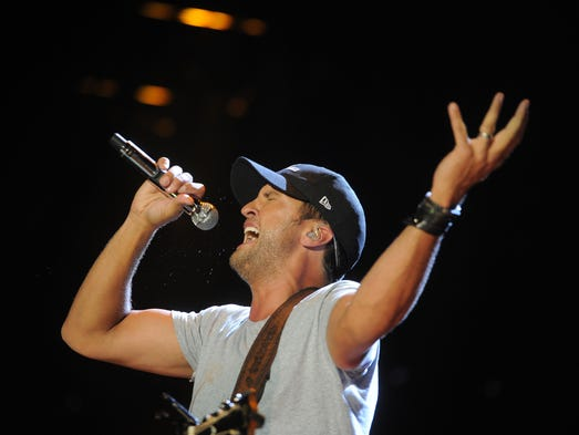 Luke Bryan performs at CMA Fest at LP Field Thursday June 5, 2014, in Nashville, TN.