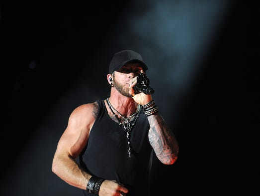 Brantley Gilbert performs at CMA Fest at LP Field Thursday June 5, 2014, in Nashville, TN.