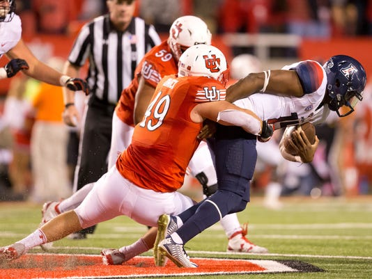 NCAA Football: Arizona at Utah