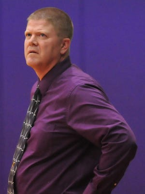 Hagerstown girls basketball coach Chris Oliger earned his 200th career victory Thursday, Dec. 1, 2016 over Cowan.