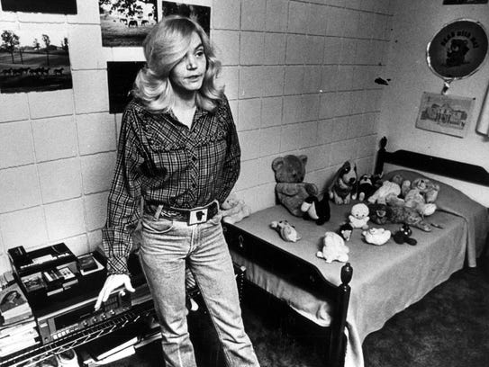 11/01/1987 Marcia Wheatley stands in the bedroom of