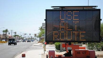 A portion of Two Bunch Palms was closed Wednesday in Desert Hot Springs