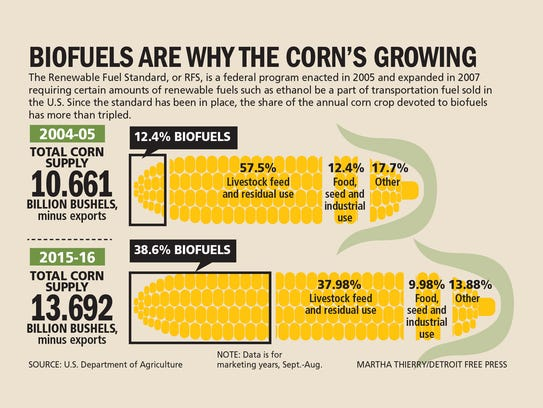 Corn crops have been tripled in the past 10 year to