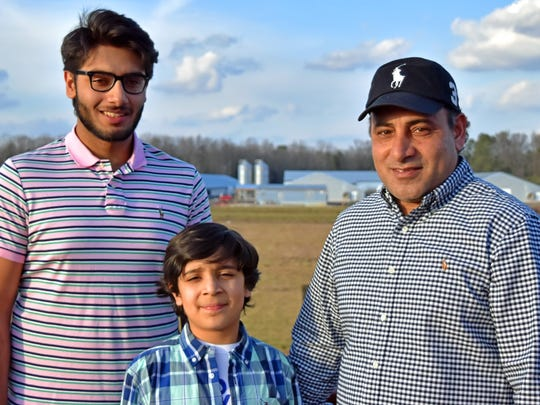 Choudry Asif, right, and his sons Shahzad Ali (left)