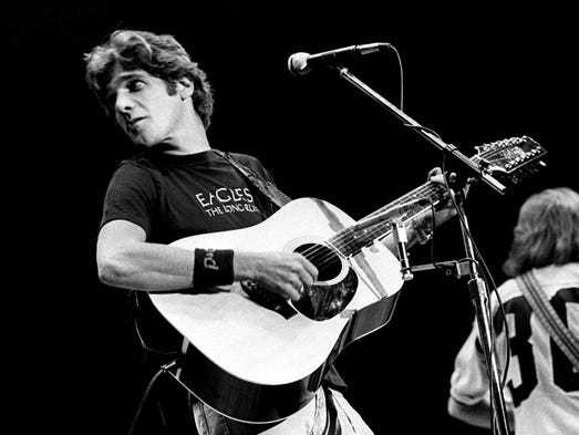Glenn Frey of the Eagles performing in concert at Middle